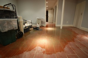 Water Damage In A Flooded Basement