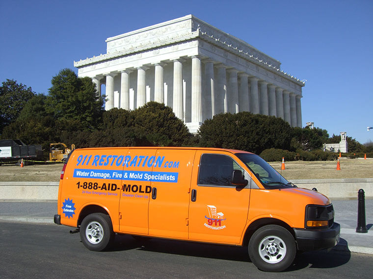 Washington-water-damage-mold-removal-fire-restoration-van
